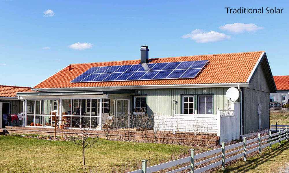Traditional Solar Roof