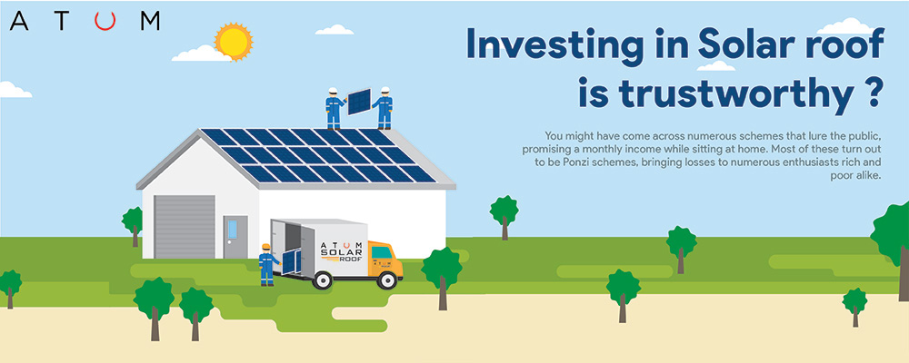 Why investing in a Solar roof is the only trustworthy scheme to make money while home!